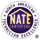 NATE Certified technicians badge